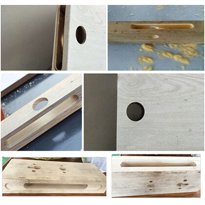 CNC Wooden Door Lock Making Machine