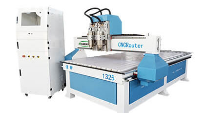 Dual Spindle 3 Axis Woodworking CNC Router Machine