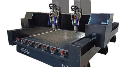 Stone CNC Router with Dual Spindles